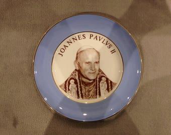 Pope John Paul II commemorative plate - circa 1970s