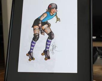 Cassandra roller derby girl