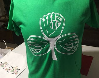 Baseball Glove Shamrock