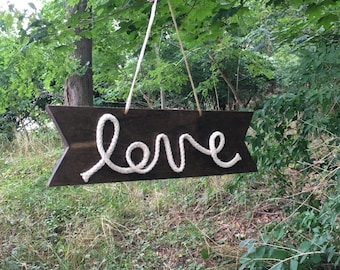 Love Wall Decor Wood Sign, Valentines Day Gift, Holiday Decorations, Home Decor, Dorm Decor, Wood Sign