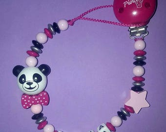 "Personalized pacifier ""panda"""