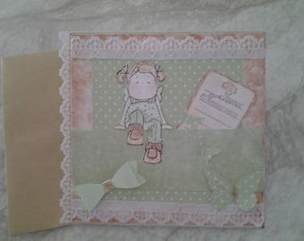 With lace birthday card