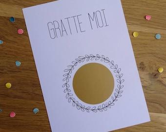 Carte à gratter personnalisable - Pour les heureux évènements