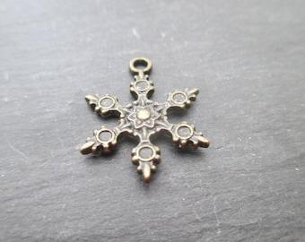 Bronze metal star charm * 1