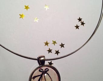 "Necklace Cable Choker ""Ballerinas in dance classic"" 25 mm pendant"