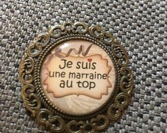 "broche "" marraine o top  "" support bronze"