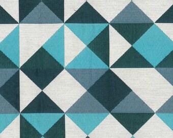 Geometric pattern fabric, dancer, thévenon