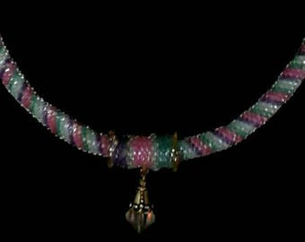 Glass Seed Bead Necklace