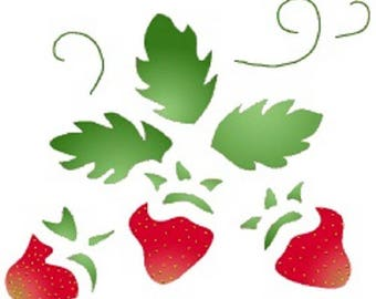 NEW STENCIL ROSE 17 * 12cm: Strawberry