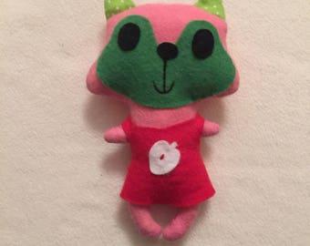 Little Miss squirrel plush felt and fabric 18 cm