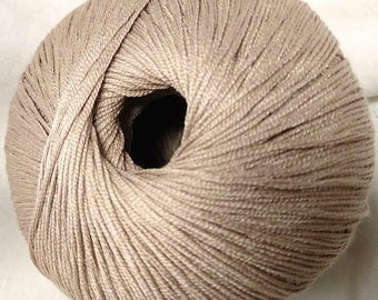 10 balls of yarn 100% shiny silk / / made in France /laine