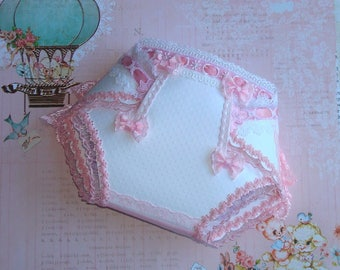 "Card Birth: ""Couche Culotte"" BEBE BLANCHE """