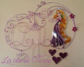 name character with aluminum wire
