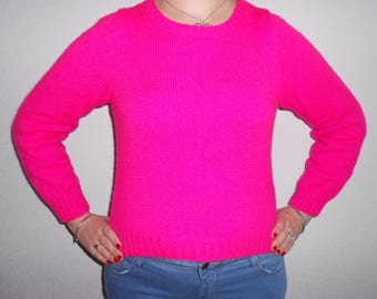 Neon pink Jersey sweater