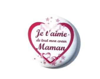 "Pocket mirror, mirror bag MOM ""I love my heart MOM"" / gift"