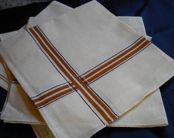 HANDKERCHIEFS MAN PALE YELLOW AND BROWN 4