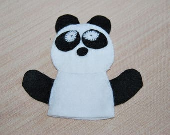 felt finger puppet animals panda