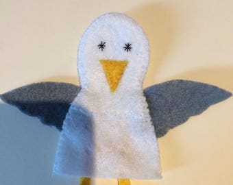felt finger puppet animals Seagull