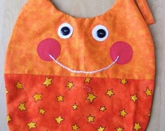 Funny orange with small stars