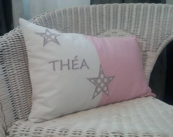 Custom embroidered Cushion cover 30 x 50 cm