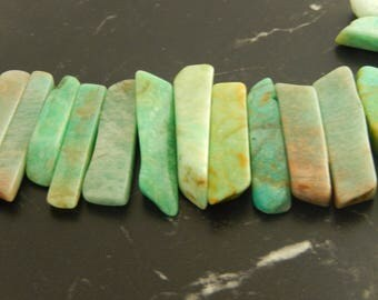 5 pendants natural Amazonite