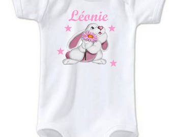 Bunny personalized with name Bodysuit