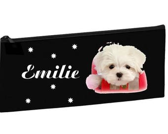 Black School Kit Bichon personalized with name