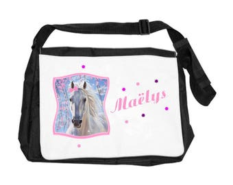 Personalized with name horse shoulder bag