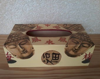 With heads of Buddha zen tissue box