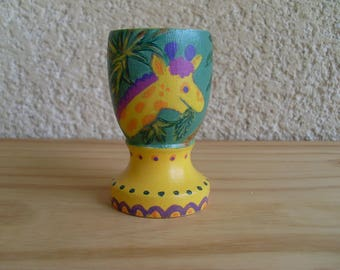 Nice colorful wooden egg Cup