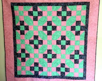 Nine Patch with Half Square Triangles