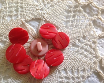 Eight small vintage fancy buttons