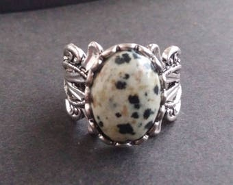 Dalmatian Jasper ring