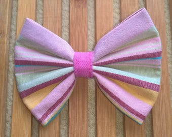 Hair bow - multicolored stripes