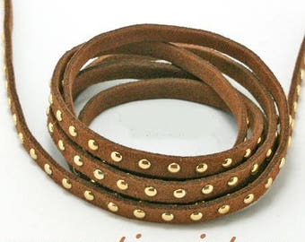 riveted cord 5mm chocolate cord 98 cm (approx.)