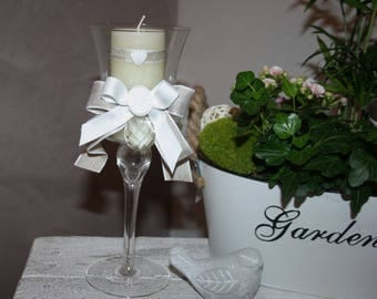 Candle glow charm atmosphere footed