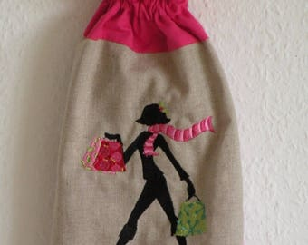 """wings embroidery machine pattern bag silhouette """"shopping"""""""
