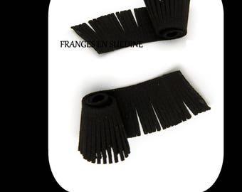 BLACK SUEDE FRINGE