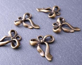 10 charms node 22 x 18 mm - color bronze