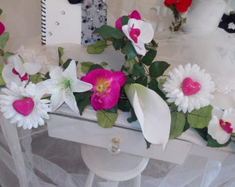 centerpiece fuchsia for wedding ceremony flowers