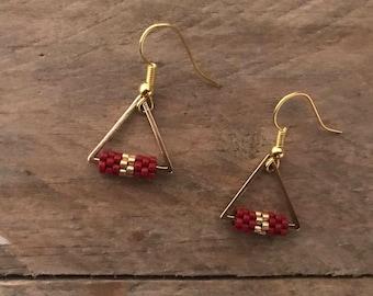 Braceletes earrings NAZCA • gold •