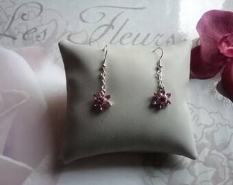 Flower swarovski earrings