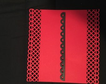 set of 10 border edging lace scrapbooking cuts