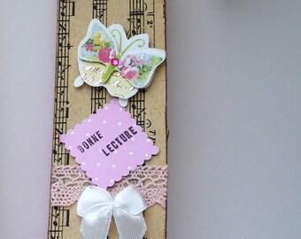 romantic bookmark on sheet music