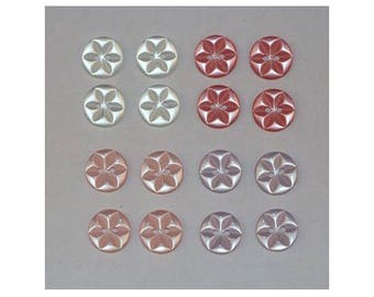 80 x buttons basic 14 mm 2 holes set G star *-000845
