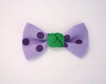 Node in Grosgrain Ribbon with polka dots set of 25: purple / lilac - 001810