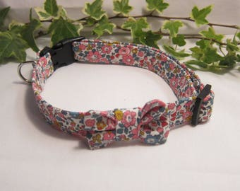 Liberty Betsy Ann fabric dog collar