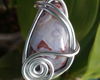 Pendant in agate crazy lace