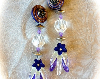 Vintage clip earrings baroque spirit creator
