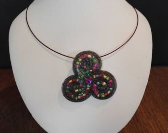 Triskell multicolor necklace
